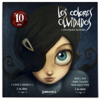 niña con un parche en un ojo mirando fijamente ilustración de carmesina, cuentos y relatos cortos juvenil adulto