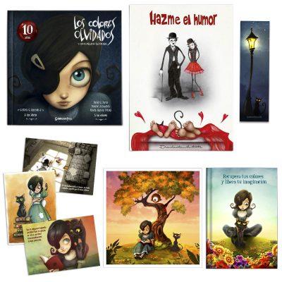 Libreta carmesina gato negro primavera , recupera los colores y recupera tu imaginación, música, postales, lámina ilustración, libros para jóvenes con valores, ilustrados, los colores olvidados
