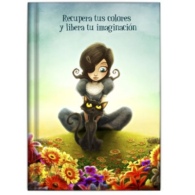 Libreta carmesina gato negro primavera , recupera los colores y recupera tu imaginación, música, postales, lámina ilustración, libros para jóvenes con valores ilustrados libreta bonita para regalar