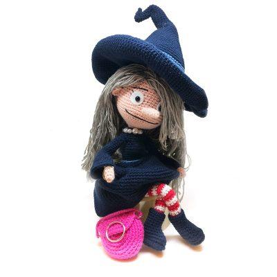 Muñeca La bruja Pampurrias hecha a mano en crochet, Amigurumi: creación de personajes con ganchillo