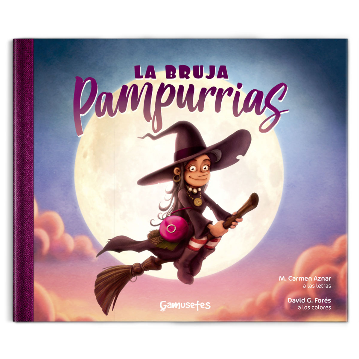la bruja Pampurrias  libro infantil ilustrado primaria