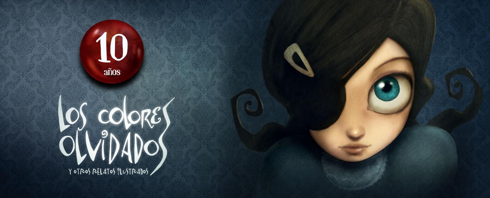 ilustración niña mirada décimo aniversario de los colores olvidados y carmesina gato negro libro infantil juvenil con 15 relatos