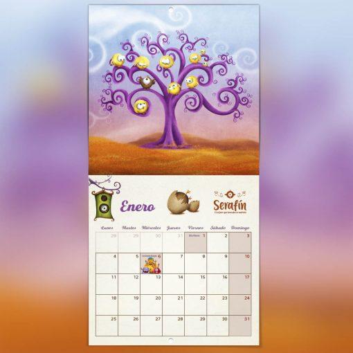 calendario enero ilustrado días festivos