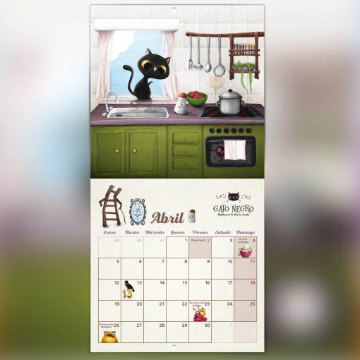 calendario de gatos abril días festivos
