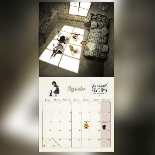 calendario de agosto días festivos cuento ilustrado 2021