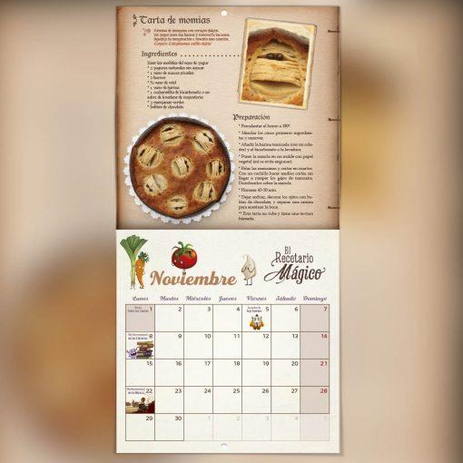 calendario de noviembre días festivos cuento ilustrado 2021