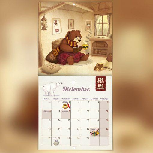 calendario de diciembre cuento ilustrado 2021