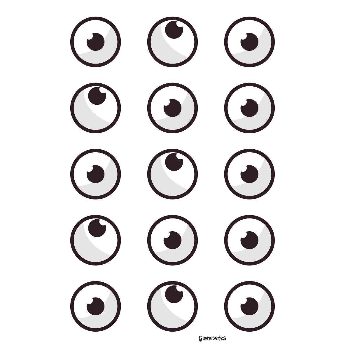 ojos recortables