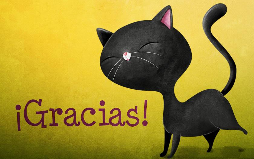 ¡Gracias! Gato negro va como un cohete