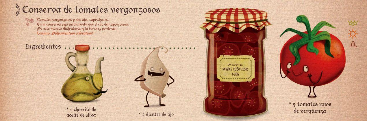 Receta salsa de tomate ilustrada